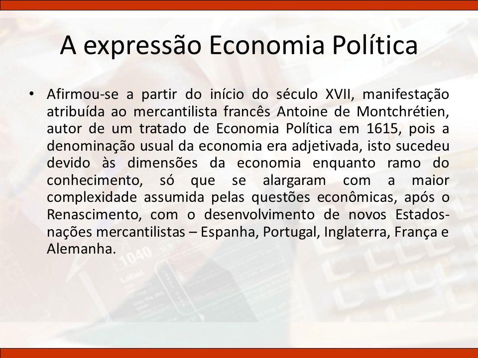 A expressão Economia Política