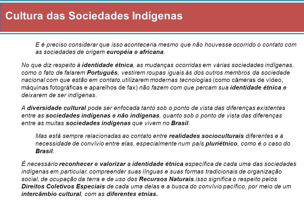 Cultura das Sociedades Indígenas