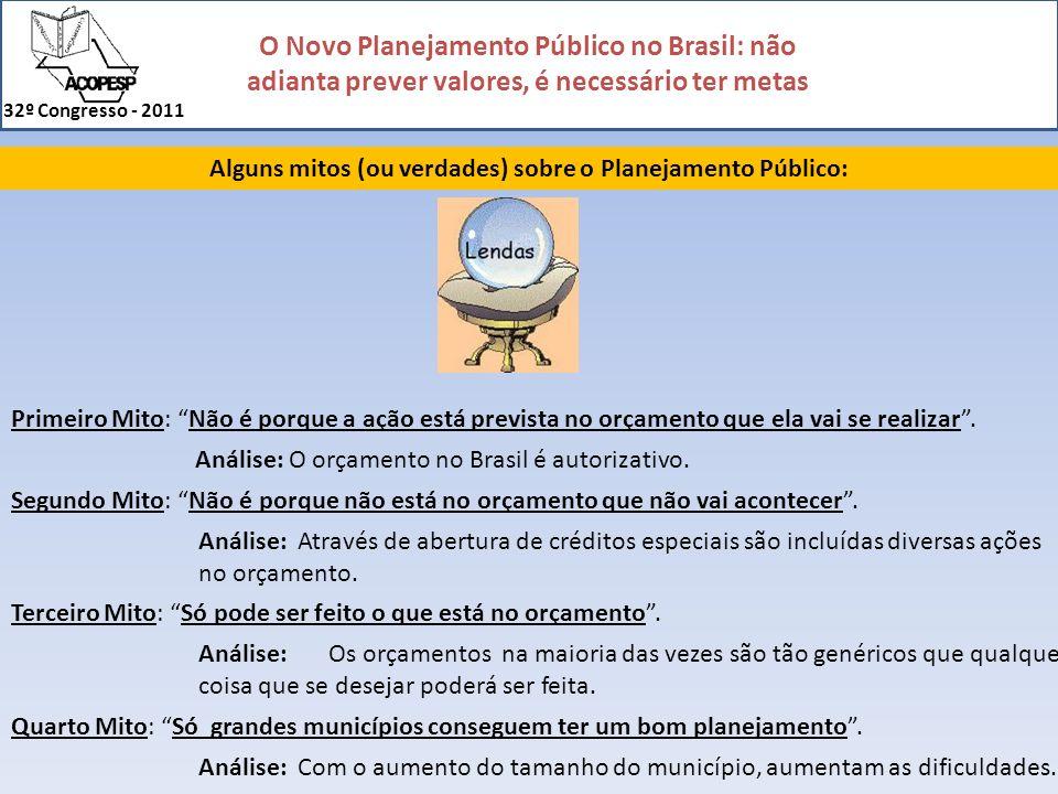 Alguns mitos (ou verdades) sobre o Planejamento Público: