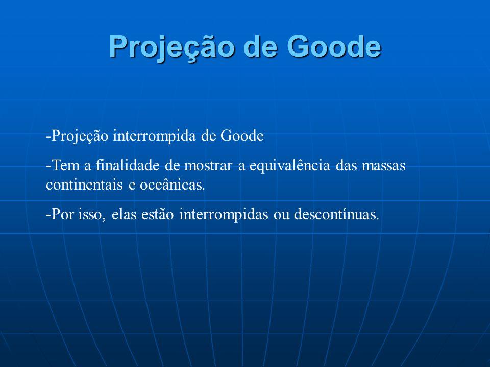 Projeção de Goode Projeção interrompida de Goode