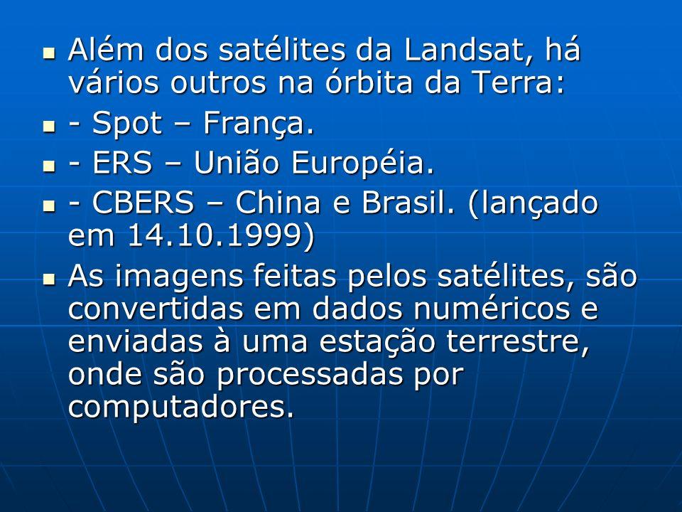 Além dos satélites da Landsat, há vários outros na órbita da Terra: