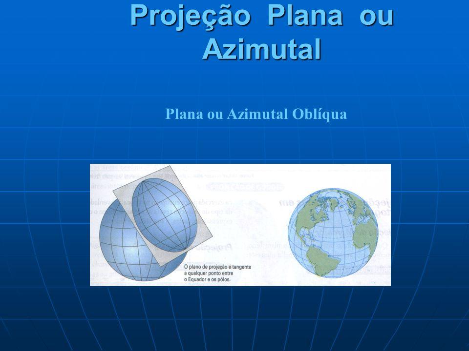 Projeção Plana ou Azimutal