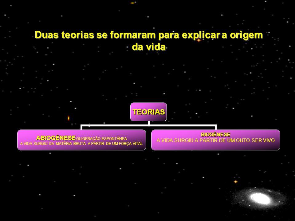 Duas teorias se formaram para explicar a origem da vida