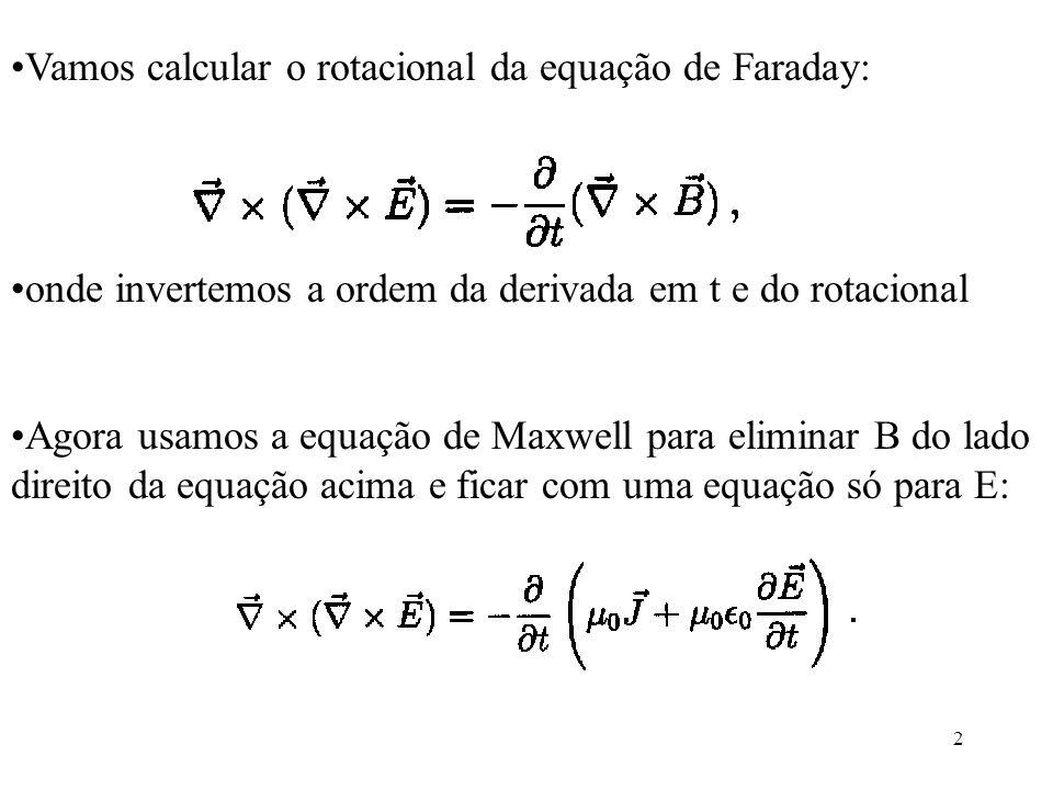 Vamos calcular o rotacional da equação de Faraday: