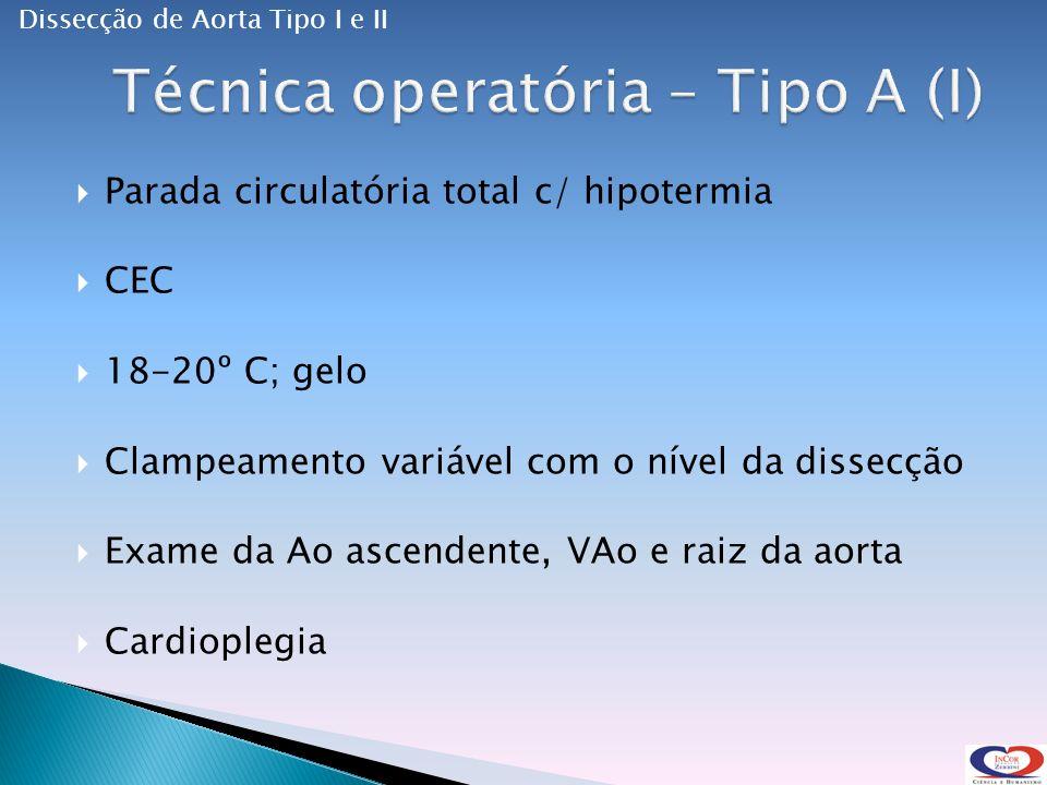 Técnica operatória – Tipo A (I)