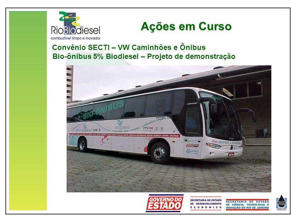 Ações em Curso Convênio SECTI – VW Caminhões e Ônibus