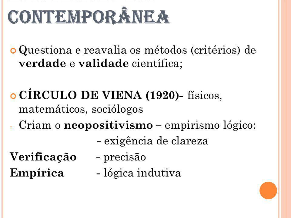EPISTEMOLOGIA CONTEMPORÂNEA