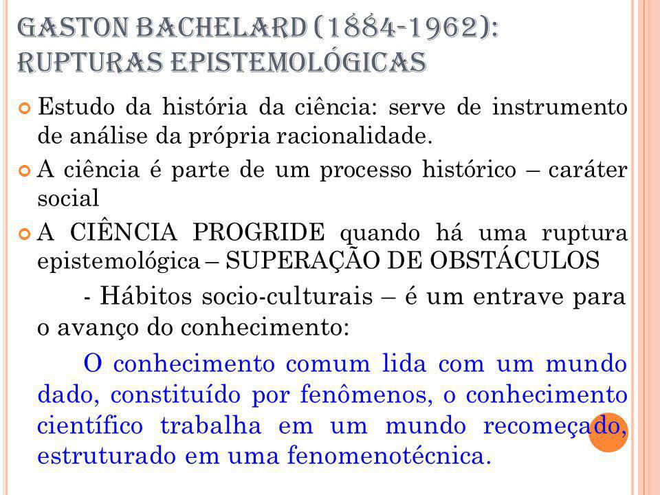 GASTON BACHELARD (1884-1962): RUPTURAS EPISTEMOLÓGICAS