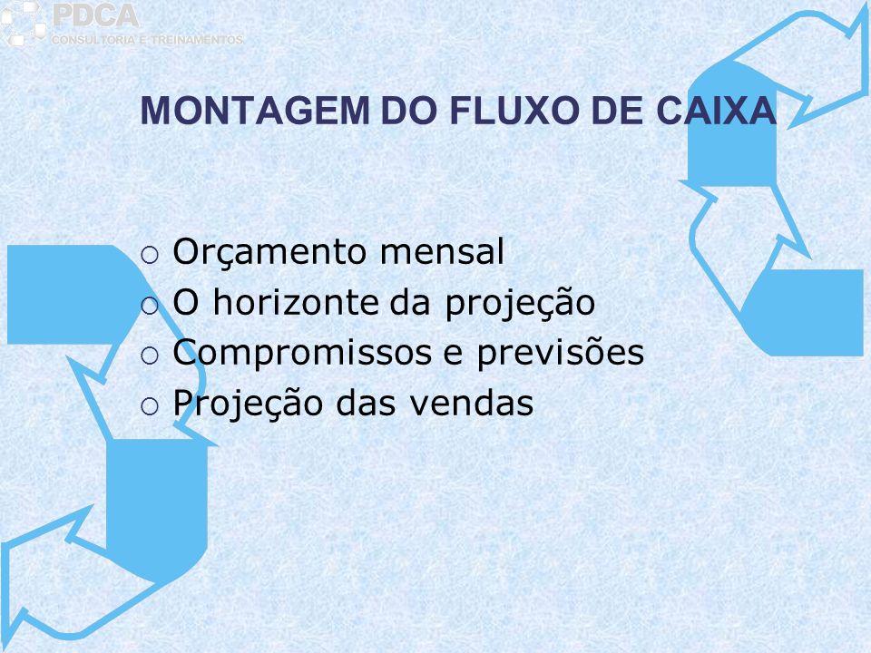 MONTAGEM DO FLUXO DE CAIXA