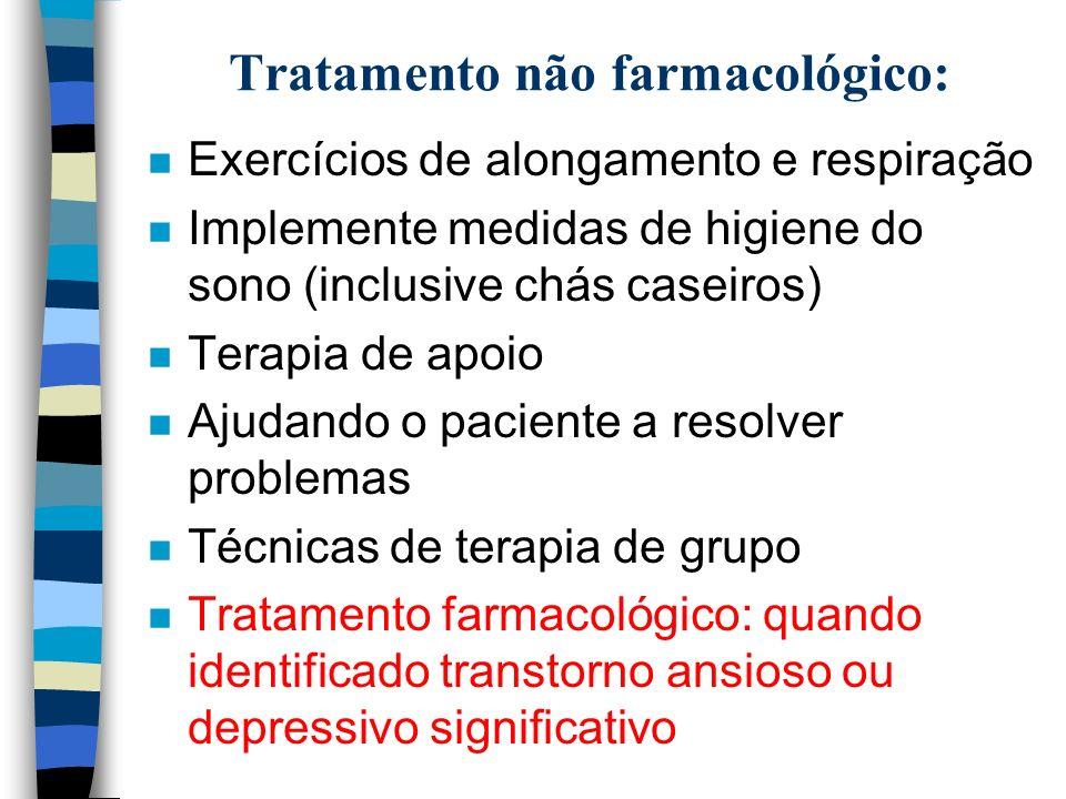 Tratamento não farmacológico: