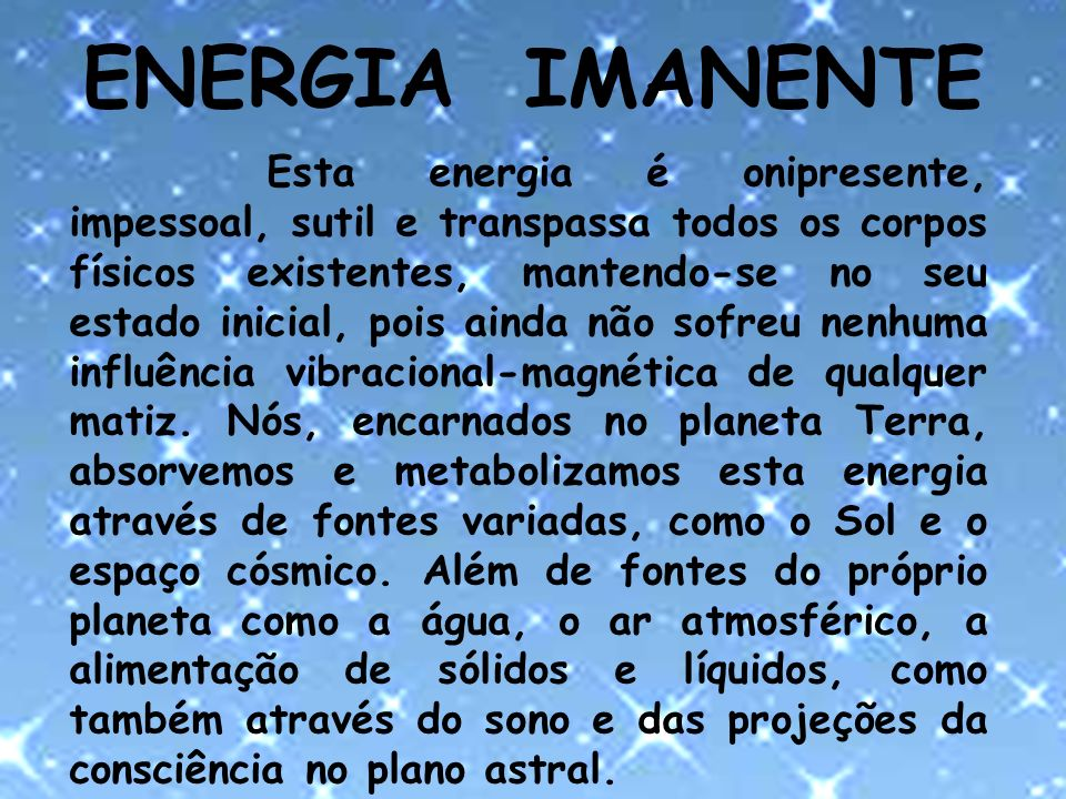 ENERGIA IMANENTE