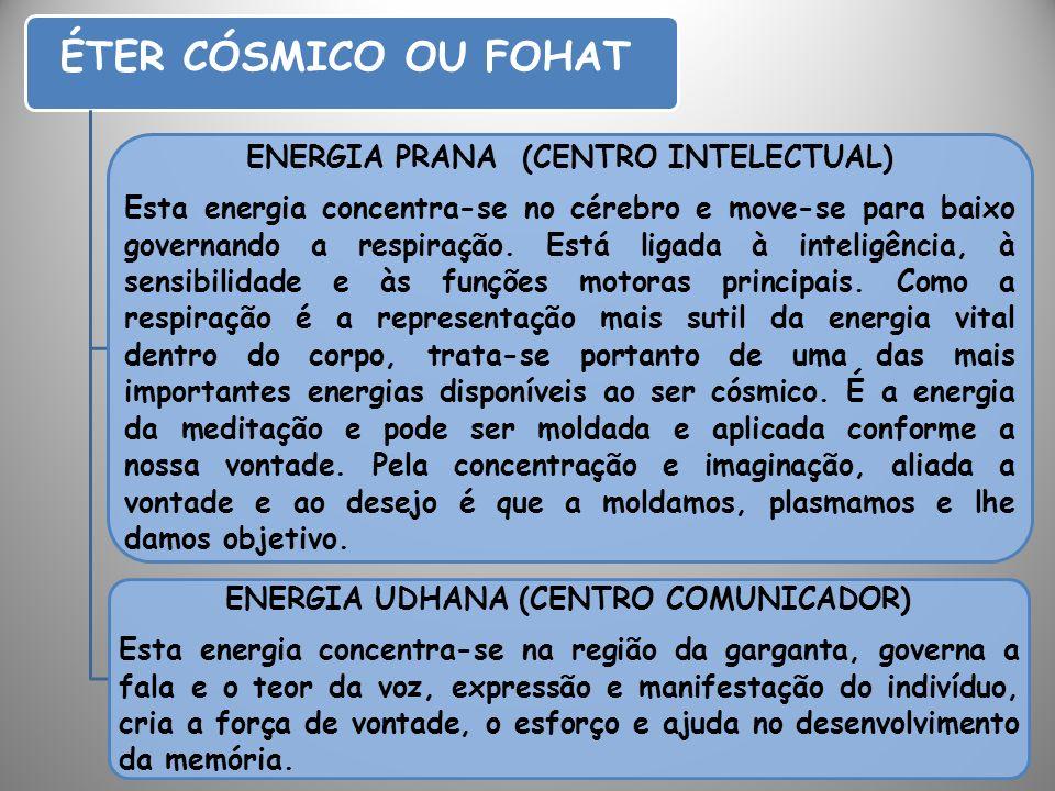 ENERGIA PRANA (CENTRO INTELECTUAL) ENERGIA UDHANA (CENTRO COMUNICADOR)