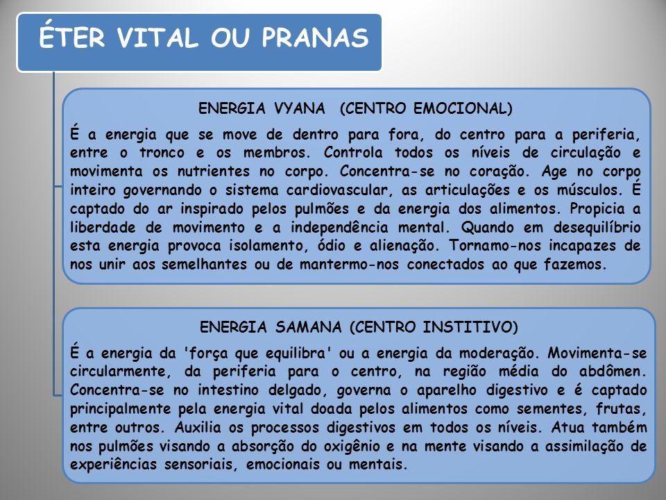 ENERGIA VYANA (CENTRO EMOCIONAL) ENERGIA SAMANA (CENTRO INSTITIVO)