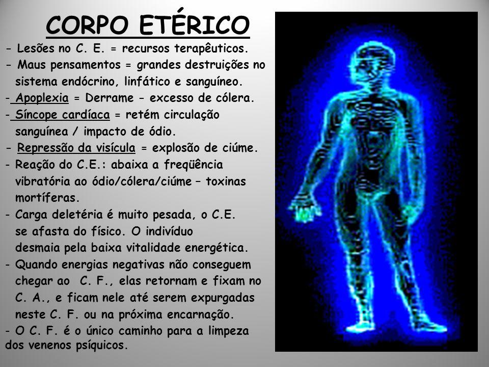 CORPO ETÉRICO - Lesões no C. E. = recursos terapêuticos.
