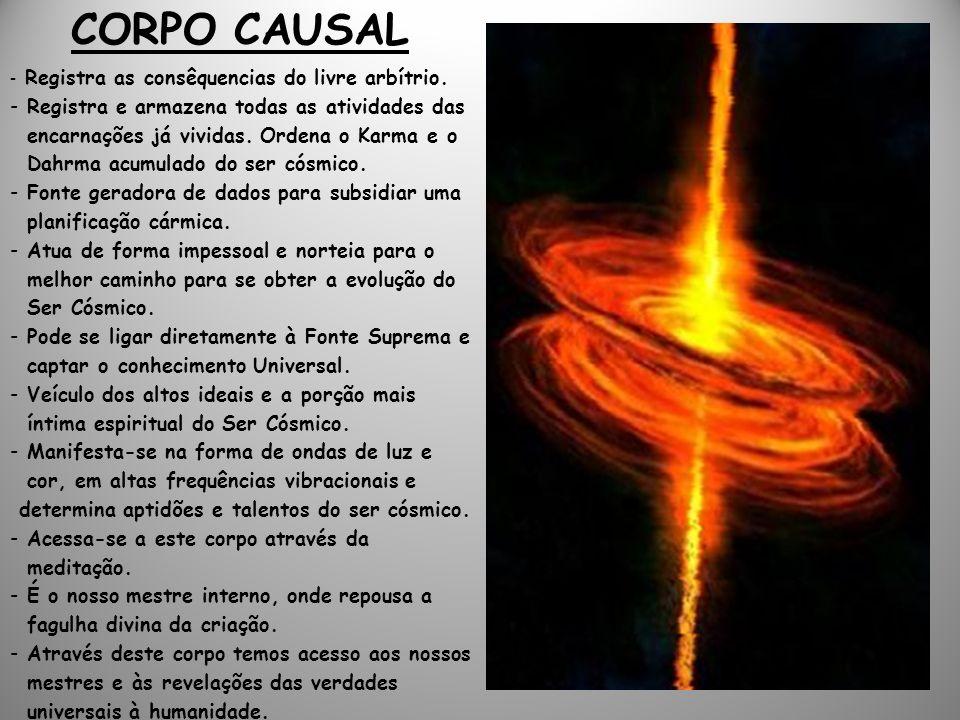 CORPO CAUSAL - Registra as consêquencias do livre arbítrio.