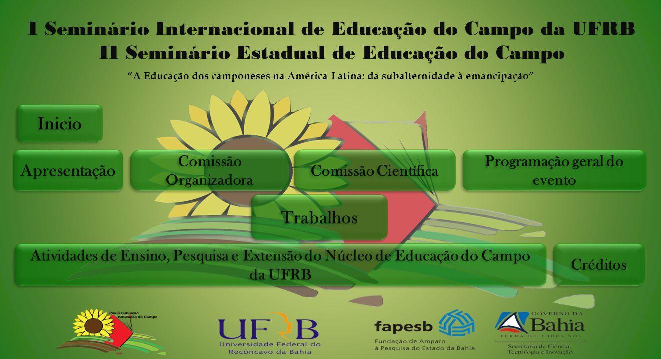 I Seminário Internacional de Educação do Campo da UFRB