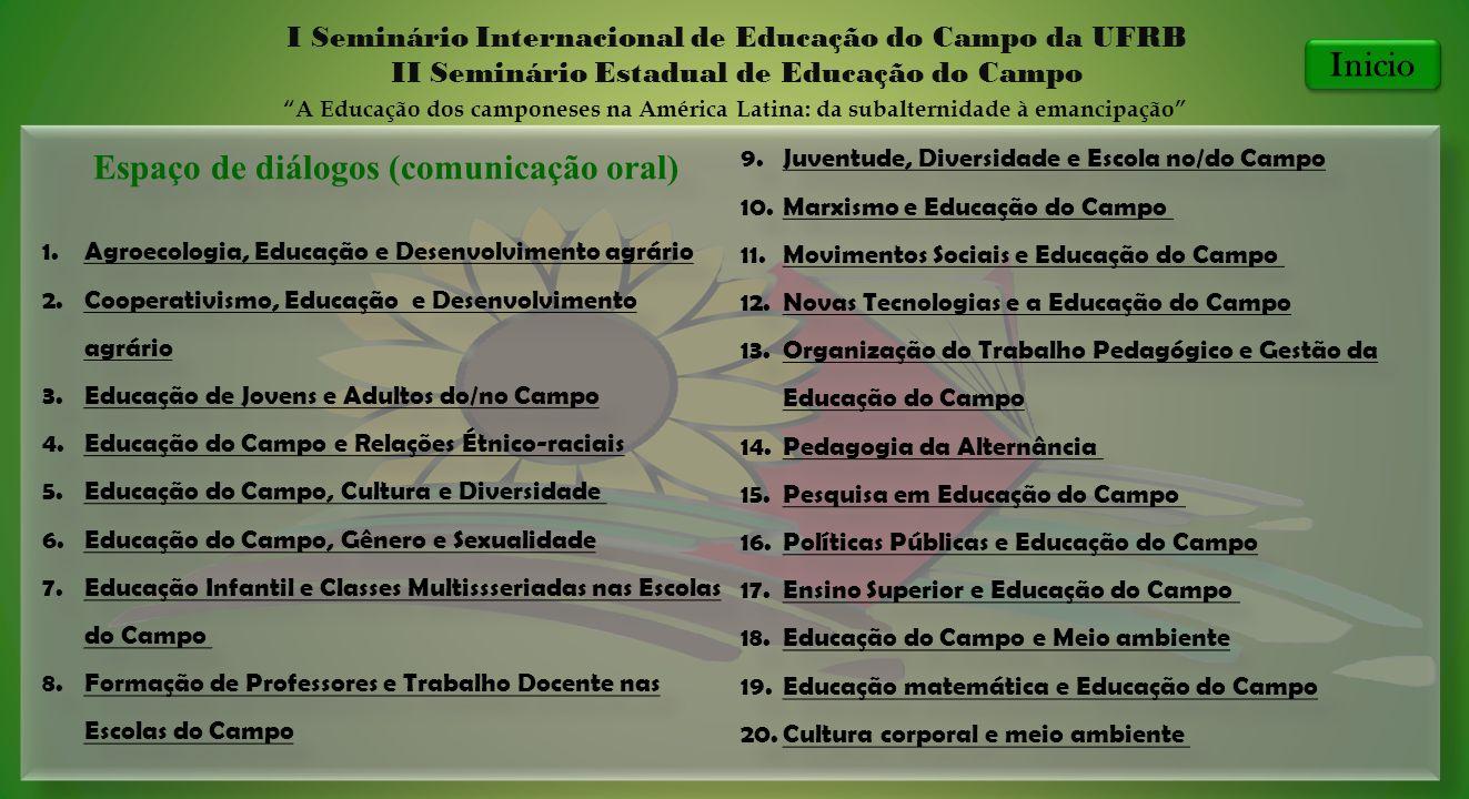 Espaço de diálogos (comunicação oral)