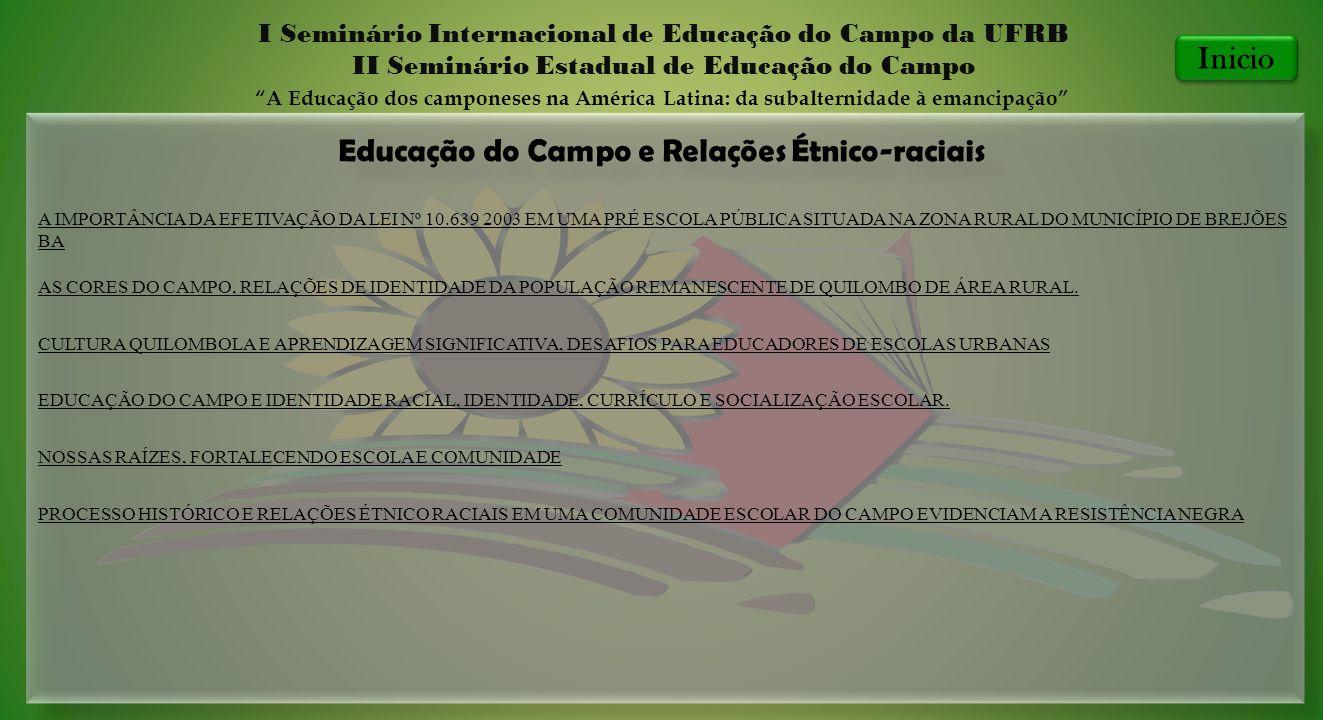 Educação do Campo e Relações Étnico-raciais