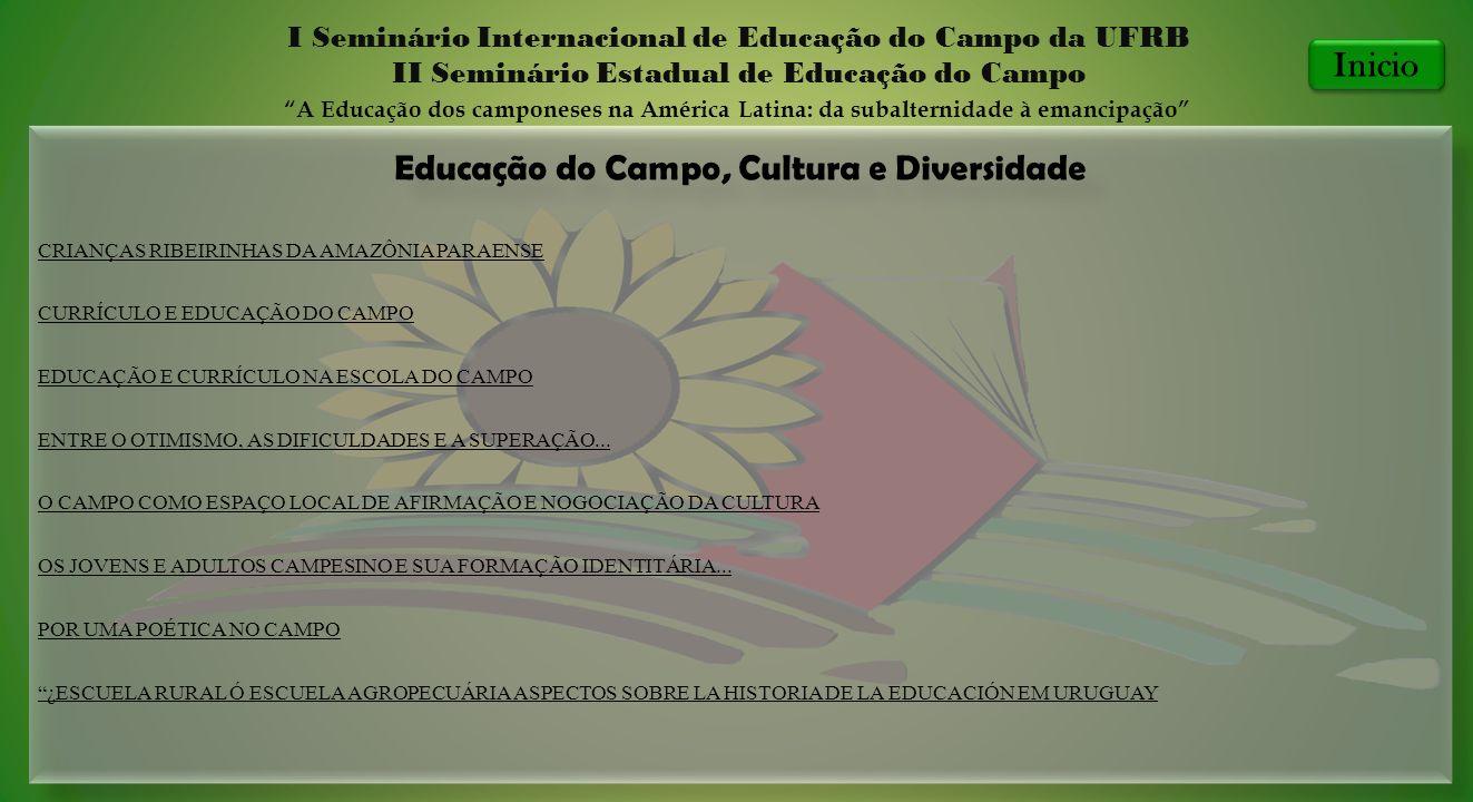 Educação do Campo, Cultura e Diversidade