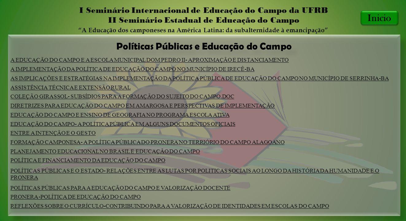 Políticas Públicas e Educação do Campo