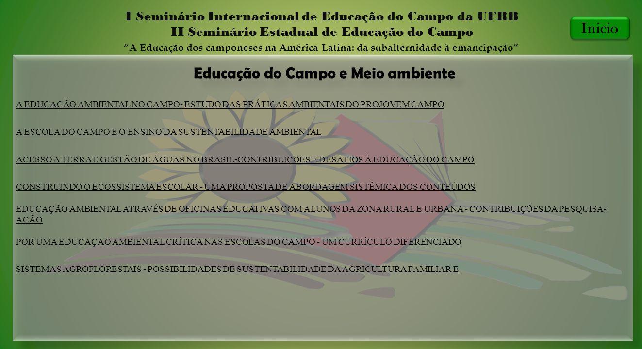 Educação do Campo e Meio ambiente