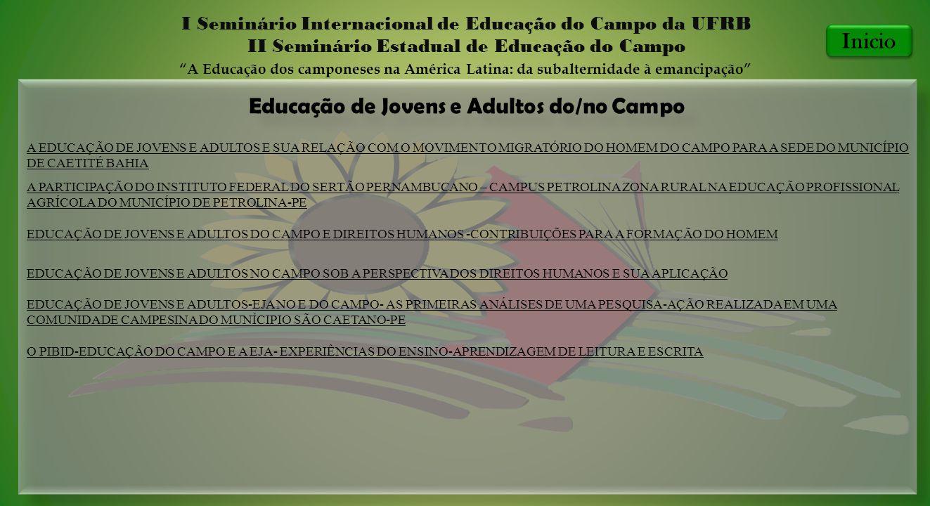 Educação de Jovens e Adultos do/no Campo