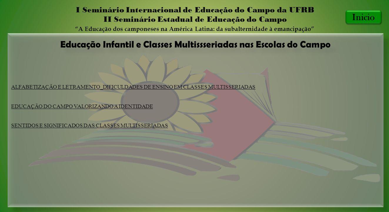 Educação Infantil e Classes Multissseriadas nas Escolas do Campo