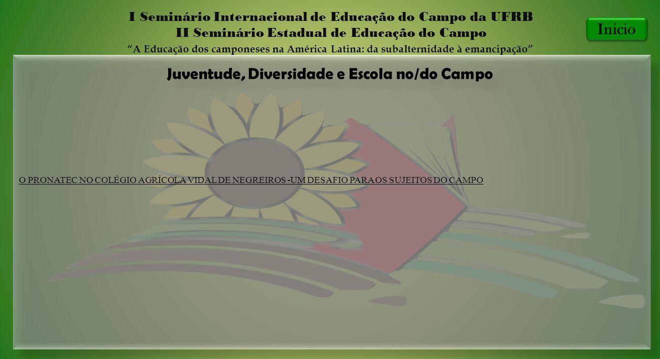 Juventude, Diversidade e Escola no/do Campo