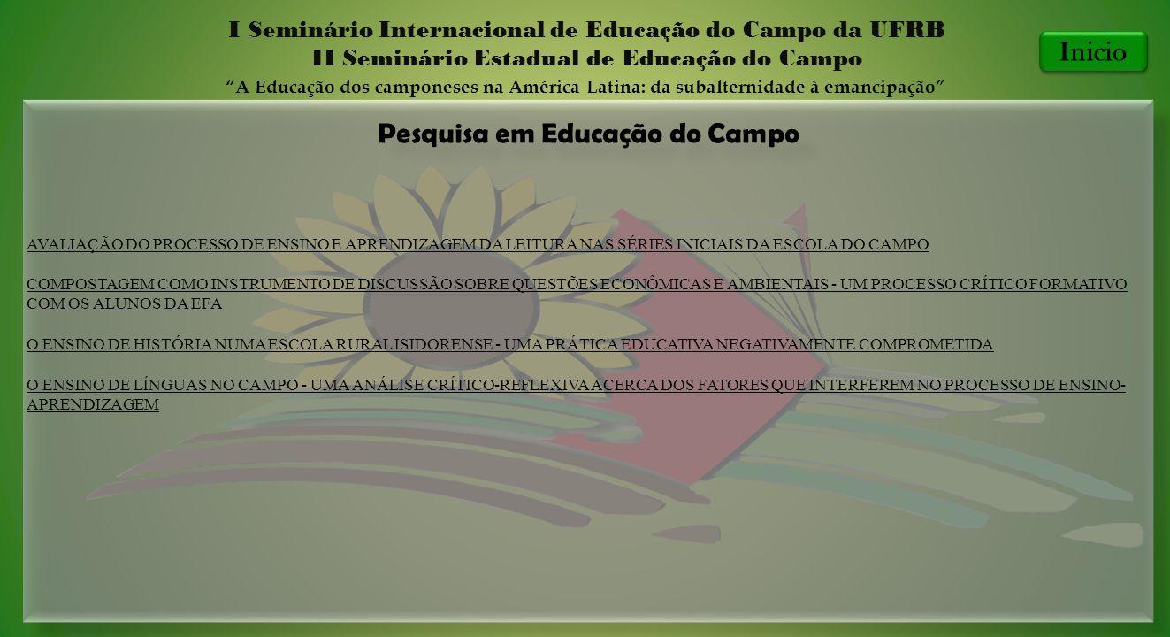 Pesquisa em Educação do Campo