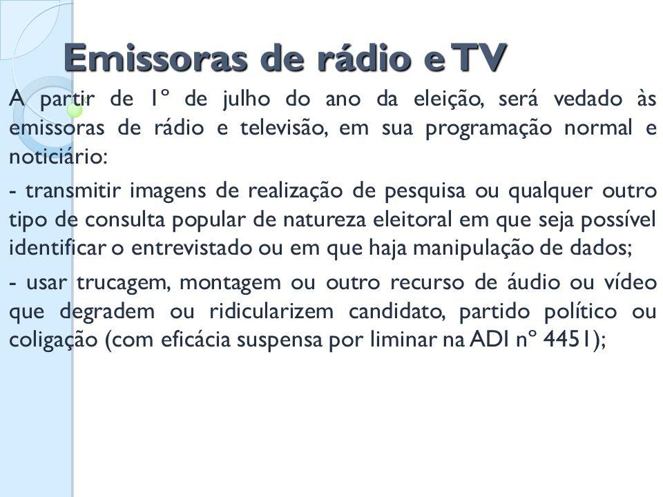 Emissoras de rádio e TV