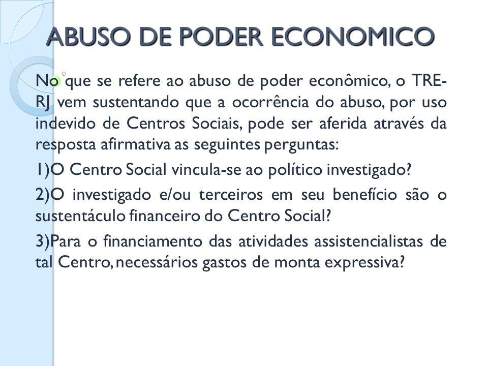 ABUSO DE PODER ECONOMICO