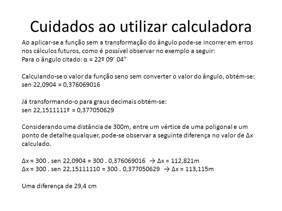 Cuidados ao utilizar calculadora