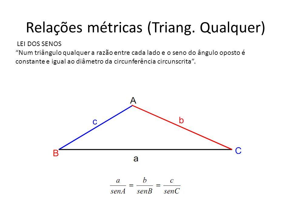 Relações métricas (Triang. Qualquer)