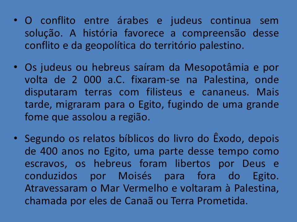 O conflito entre árabes e judeus continua sem solução