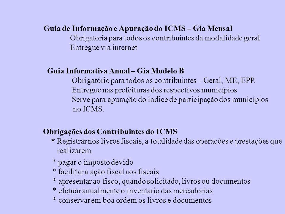 Guia de Informação e Apuração do ICMS – Gia Mensal