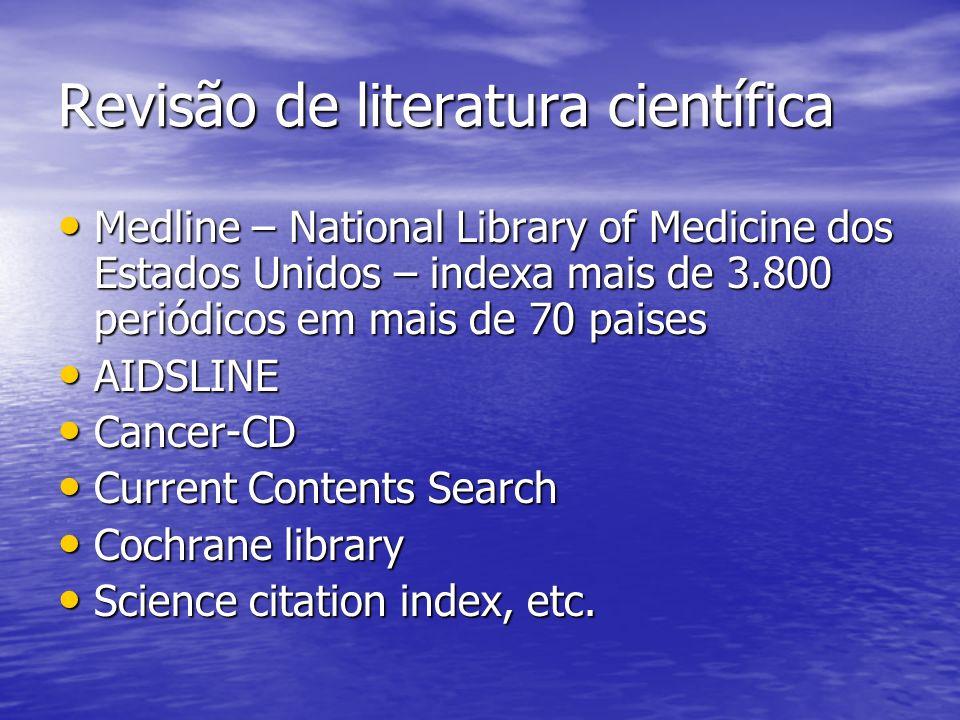 Revisão de literatura científica