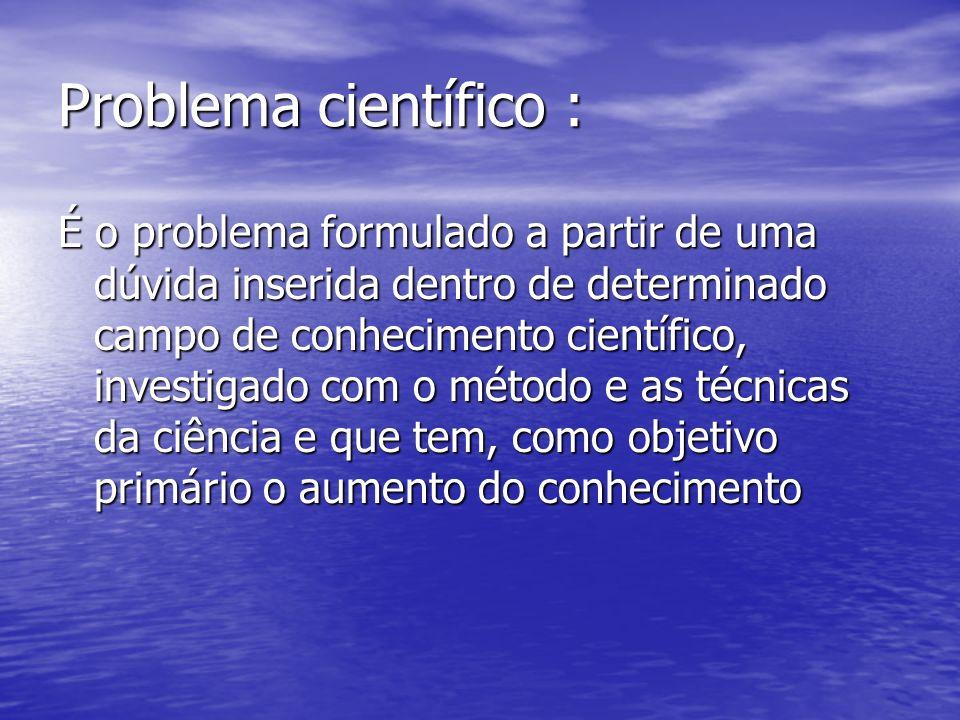 Problema científico :