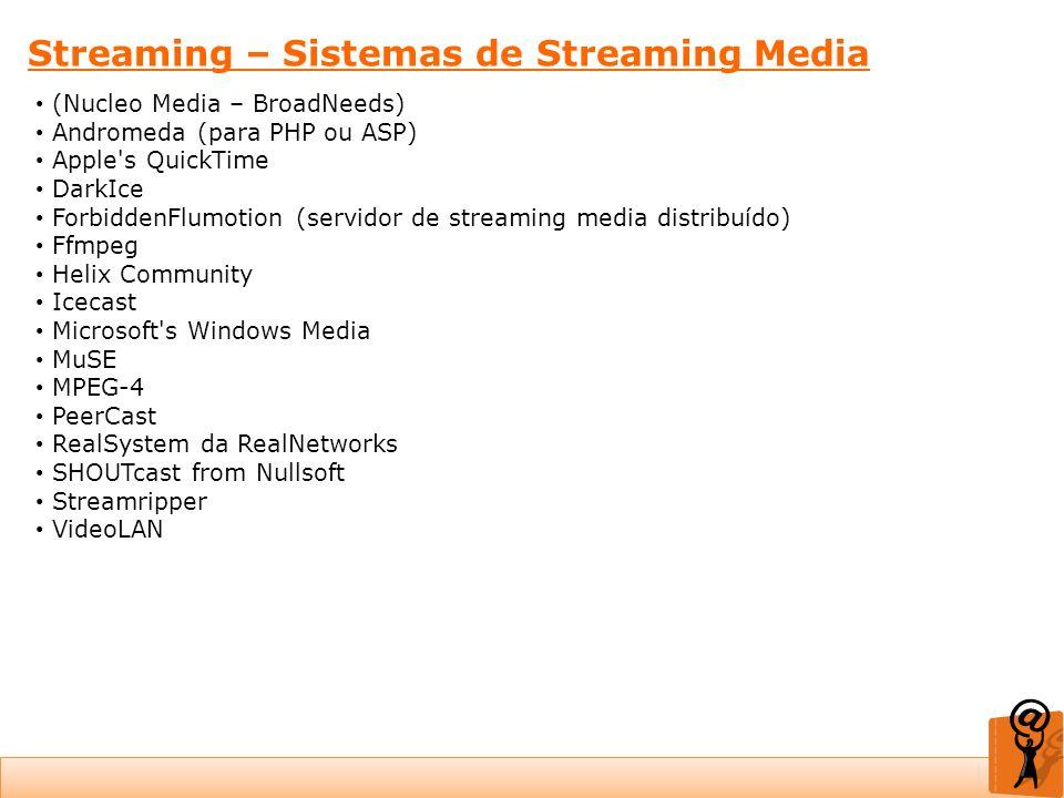 Streaming – Sistemas de Streaming Media