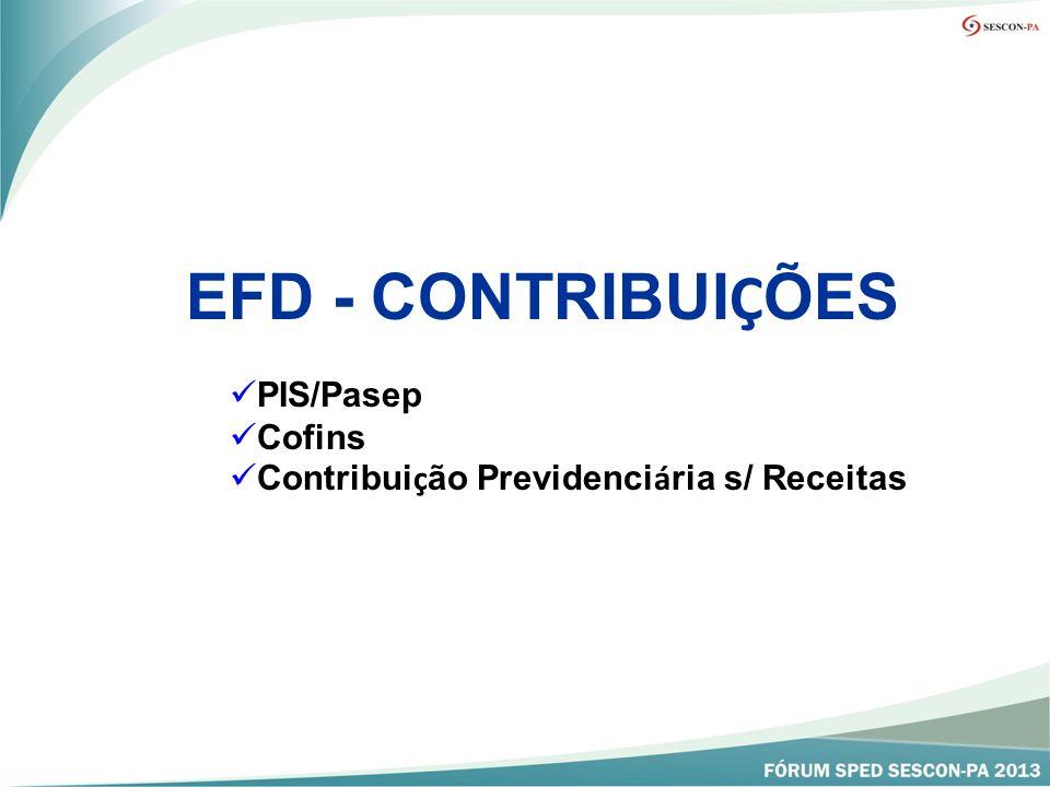EFD - CONTRIBUIÇÕES PIS/Pasep Cofins