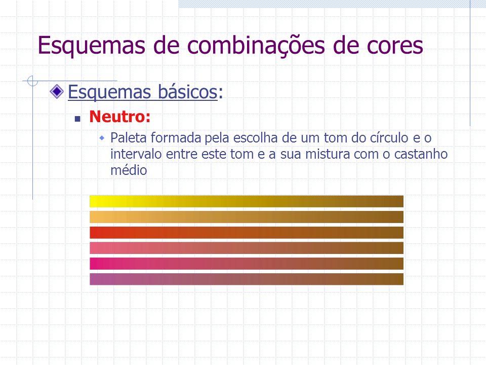 Esquemas de combinações de cores