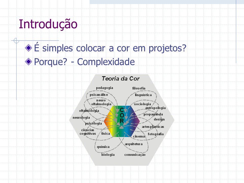 Introdução É simples colocar a cor em projetos Porque - Complexidade