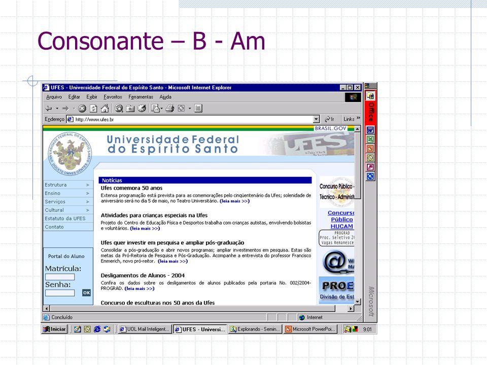Consonante – B - Am