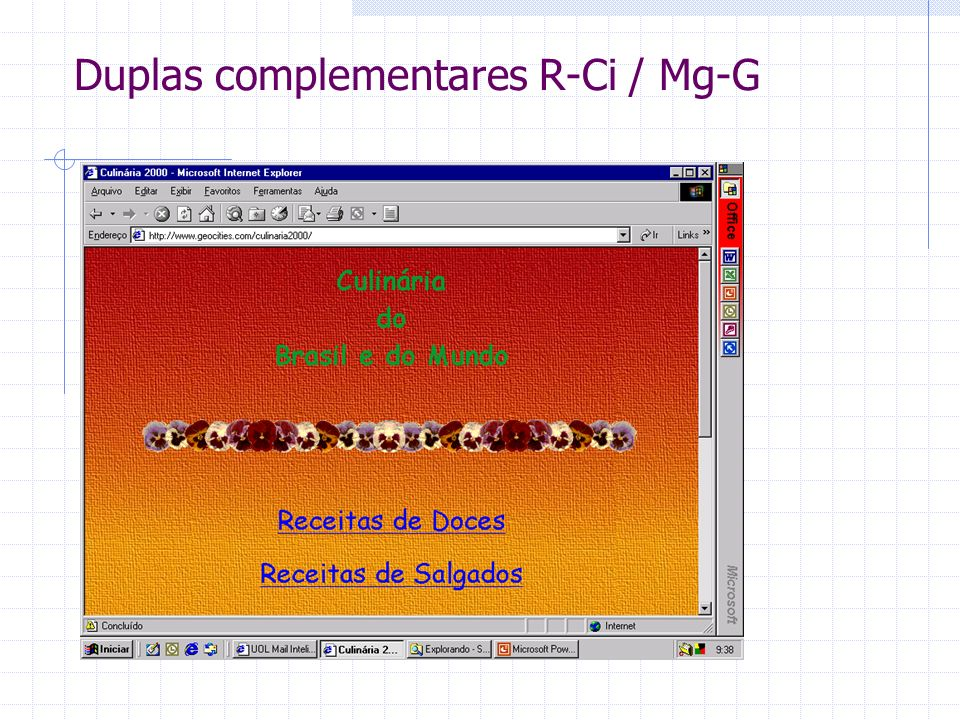 Duplas complementares R-Ci / Mg-G