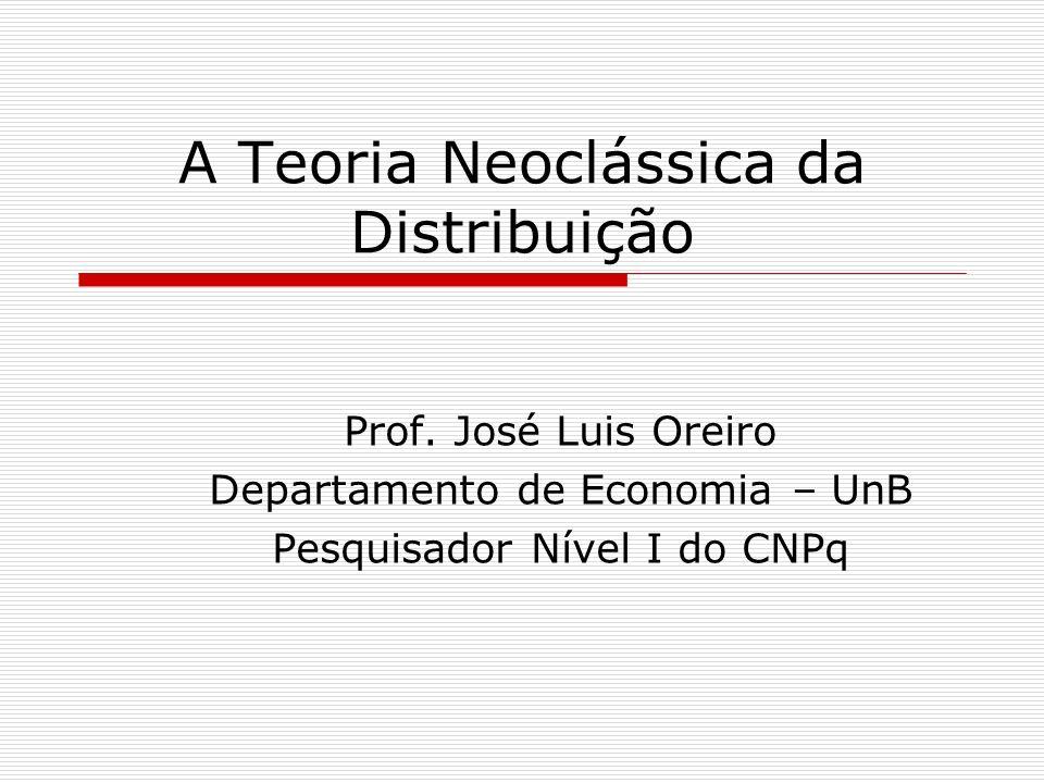 A Teoria Neoclássica da Distribuição
