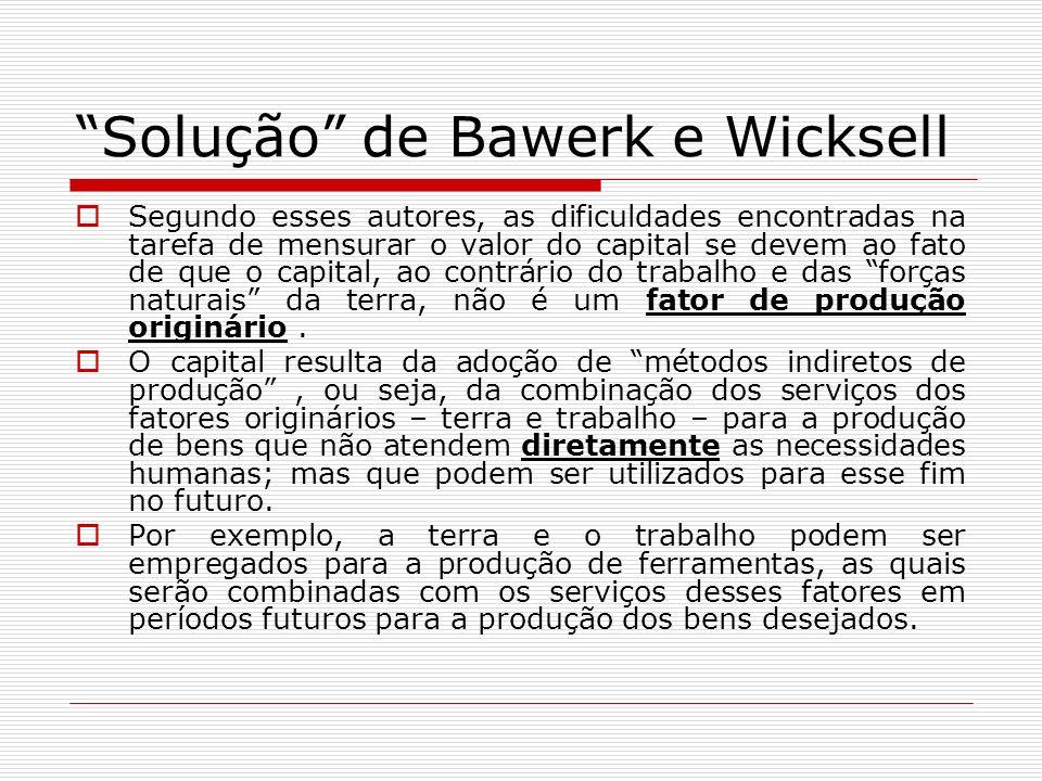 Solução de Bawerk e Wicksell