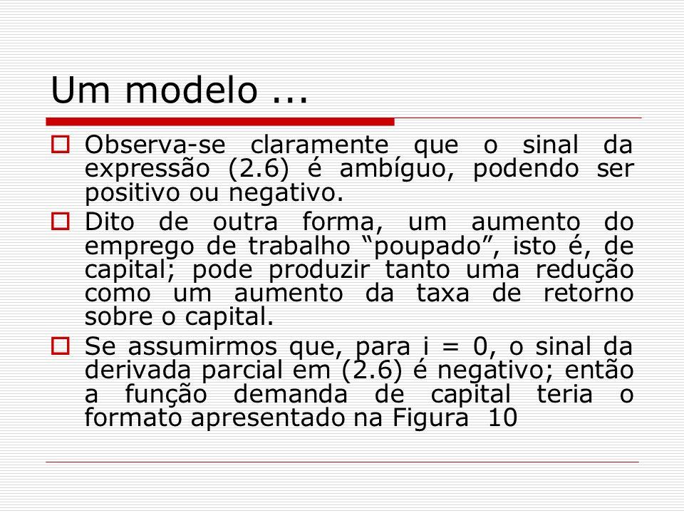 Um modelo ... Observa-se claramente que o sinal da expressão (2.6) é ambíguo, podendo ser positivo ou negativo.