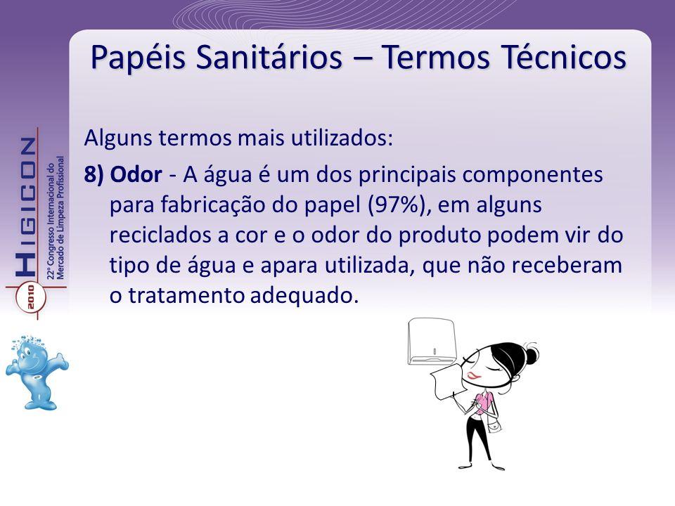 Papéis Sanitários – Termos Técnicos