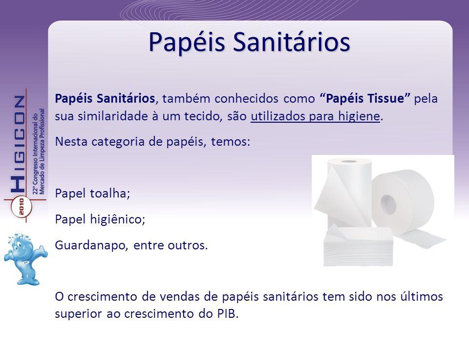 Papéis Sanitários Papéis Sanitários, também conhecidos como Papéis Tissue pela sua similaridade à um tecido, são utilizados para higiene.