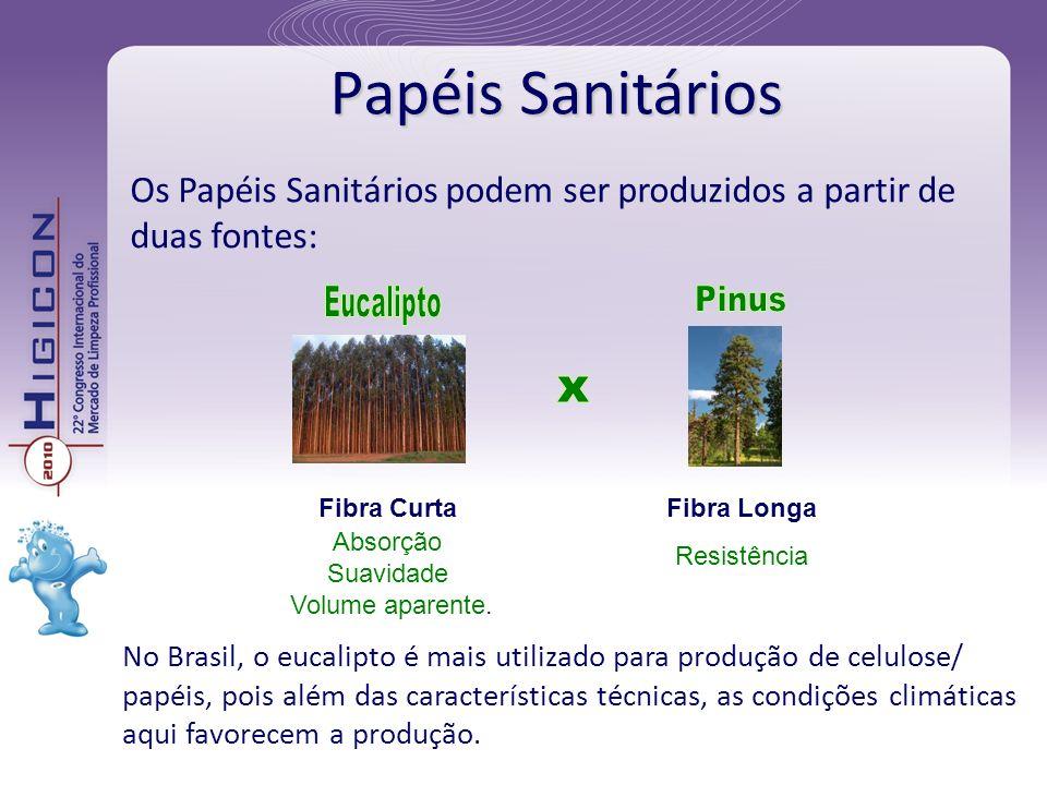 Papéis Sanitários Eucalipto Pinus x