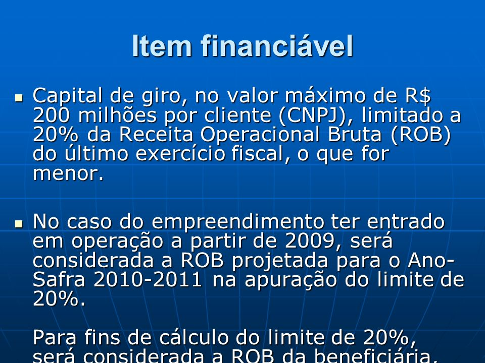Item financiável